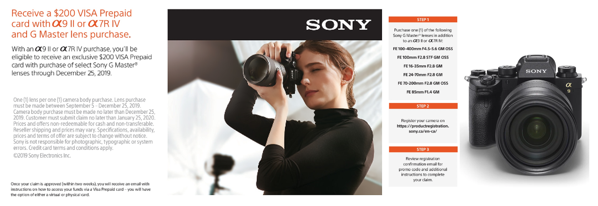 sony A9ii A7R iv and lens deal